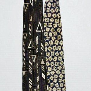 Pair of Zylos Neckties George Machado Italan Silk